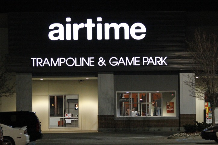 The outside of Airtime Trampoline & Gamepark in Troy.  PHOTO / MADELINE TEW