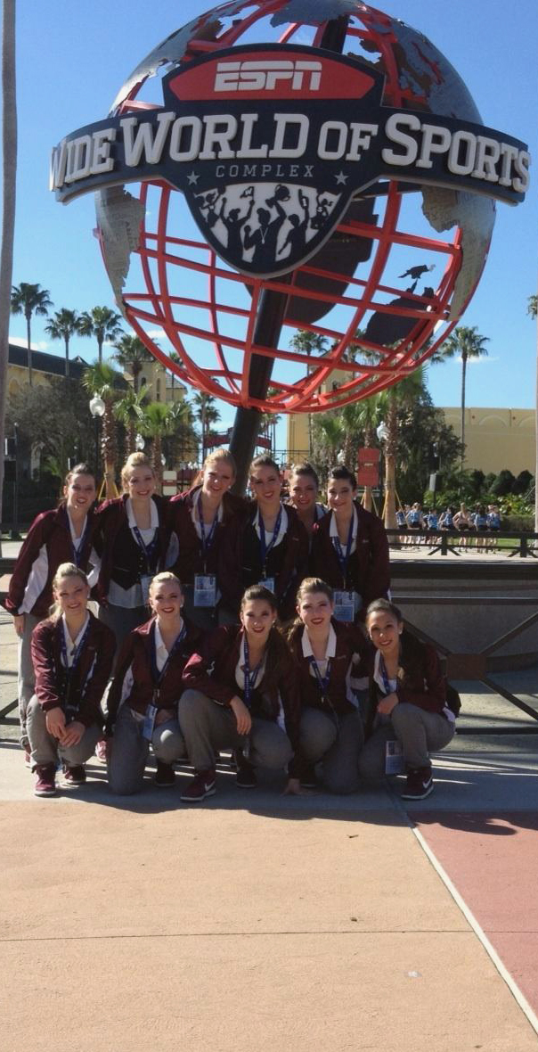 The Maple Motion team poses for a picture before heading to compete in their Hip-Hop event at the Universal Dance Association National Championship in Orlando, Florida.  PHOTO / LILIA MARESKI