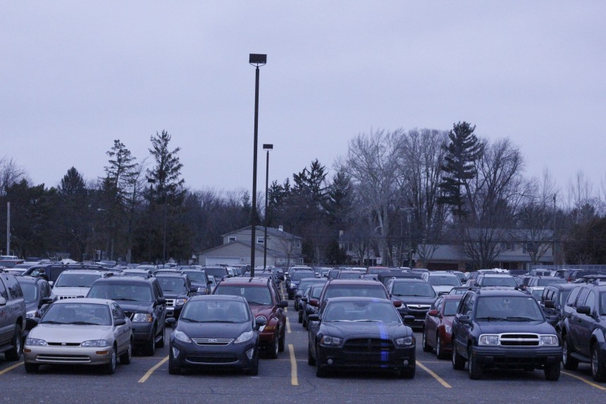 With concerns about overcrowding, administrators revised the parking pass policy.  PHOTO / MADELINE TEW