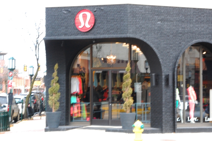 "Lululemon Athletica on the corner of Maple and Old Woodward. The store recently recalled their popular ""Luon"" pants, popular among Birmingham teens.  PHOTO / CAROLINE SQUATRITO"