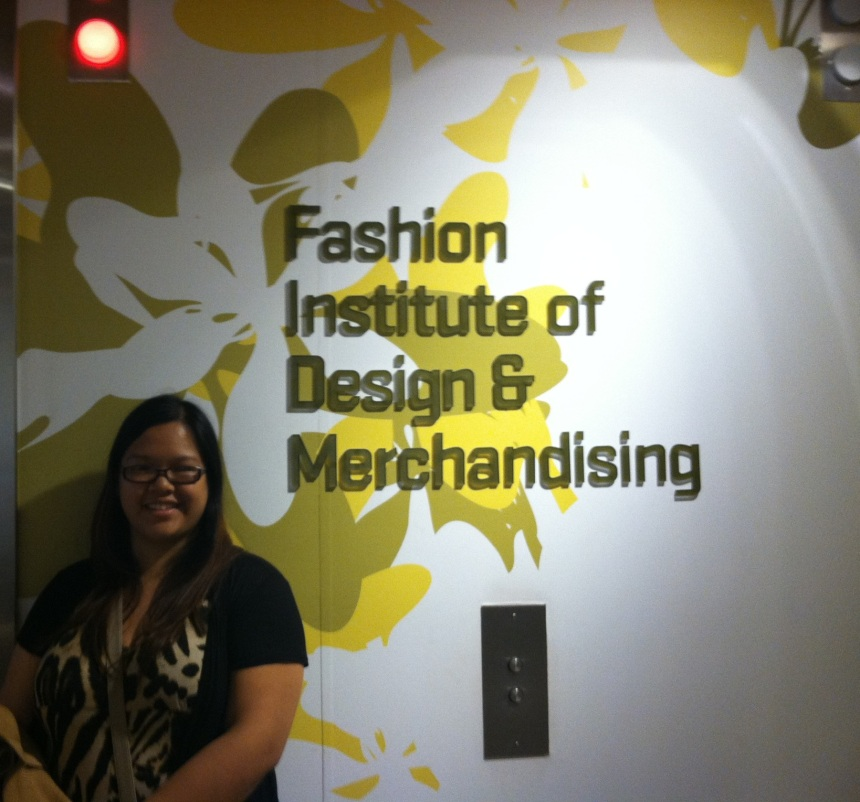 Senior Tanya Vu poses in front of a FIDM elevator. Vu will be attending the school in the fall and hopes to pursue a career in the business side of the fashion industry.  PHOTO / TANYA VU